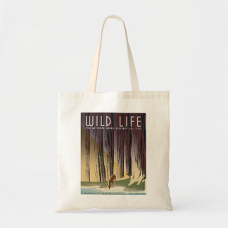Wild Life - The National Parks preserve all Life. Budget Tote Bag