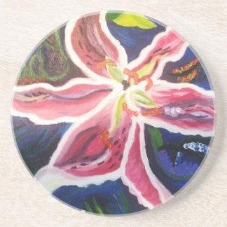 Wild Lily 2.jpg Beverage Coaster