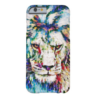 Wild Lion Impressionist Acrylic Wildlife Art Barely There iPhone 6 Case