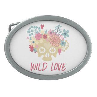 Wild Love Flowers Belt Buckles