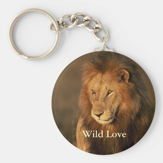 Wild Love Lion Keychain