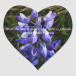 Wild Lupine wildflower heart sticker