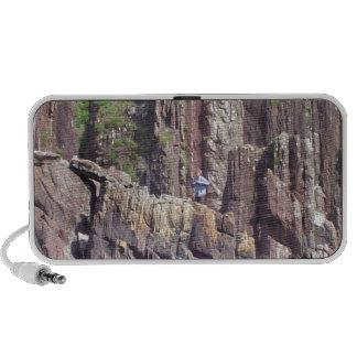 Wild Man On Cliffs Laptop Speakers