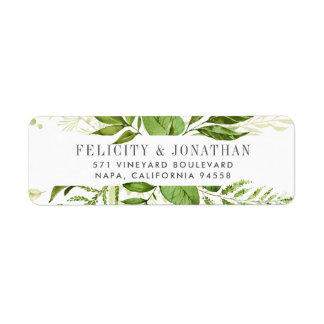 Wild Meadow | Botanical Return Address Return Address Label
