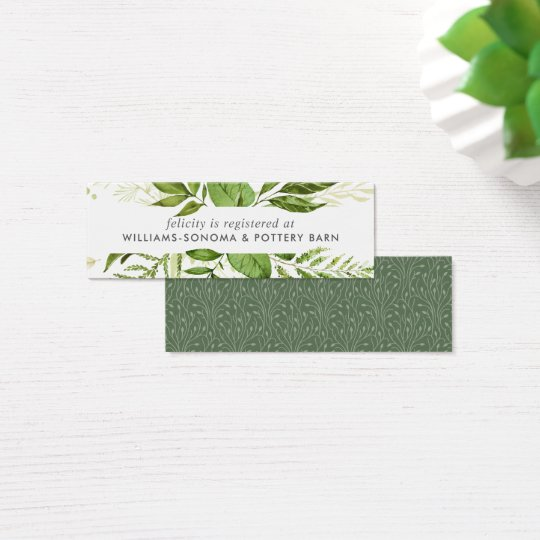 Wild Meadow Bridal Registry Insert Cards   Mini