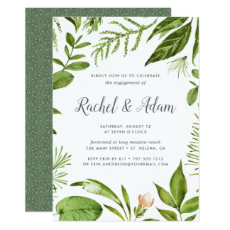 Wild Meadow Engagement Party Invitation