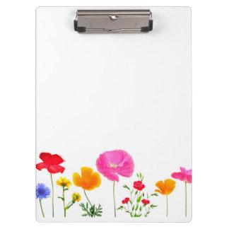 wild meadow flowers clipboard