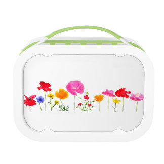 wild meadow flowers lunch boxes