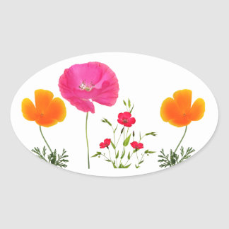 wild meadow flowers sticker