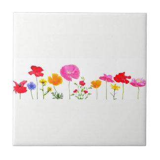 wild meadow flowers tile