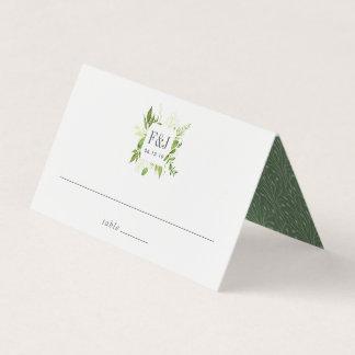 Wild Meadow Monogram Wedding Place Card