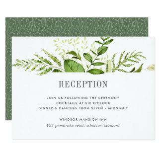 Wild Meadow Reception Card