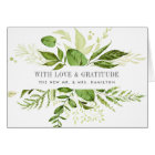 Wild Meadow   Watercolor Botanical Thank You Card