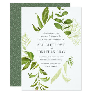 Wild Meadow Wedding Invitation