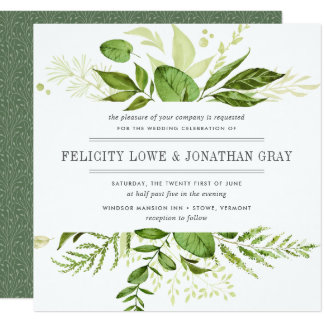 Wild Meadow Wedding Invitation | Square