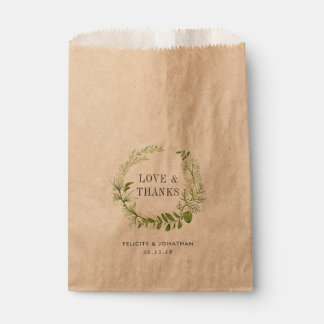Wild Meadow Wedding Thank You Favour Bags
