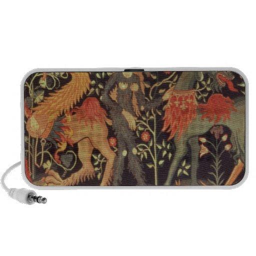 Wild Men and Animals, tapestry, 15th century Laptop Speakers