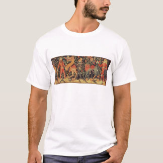 Wild Men and Animals, tapestry, 15th century T-Shirt
