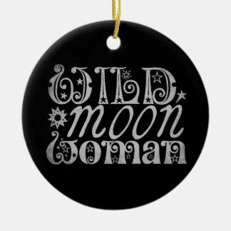 Wild Moon Woman Christmas Ornament