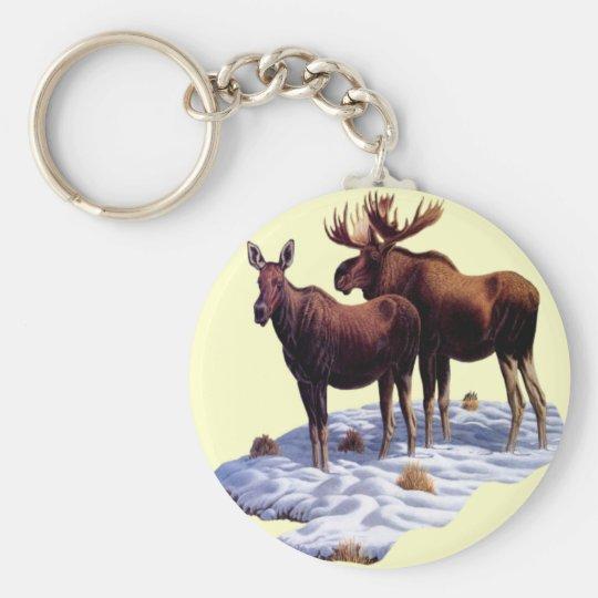 Wild Moose Key Chain