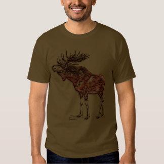 Wild Moose Wildlife Supporter Art T Shirt