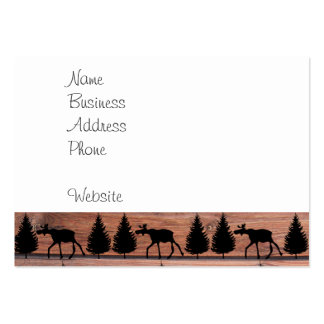 Wild Moose Wolf Wilderness Mountain Cabin Rustic Pack Of Chubby Business Cards