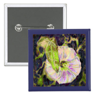 Wild Morning Glory by Alexandra Cook 15 Cm Square Badge