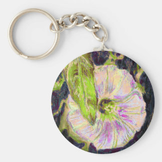 Wild Morning Glory by Alexandra Cook Basic Round Button Key Ring