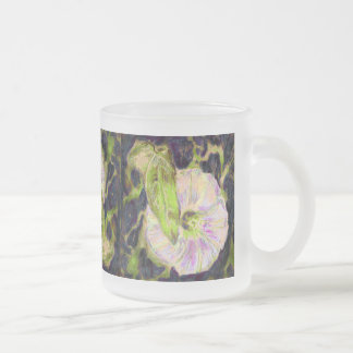 Wild Morning Glory by Alexandra Cook 10 Oz Frosted Glass Coffee Mug