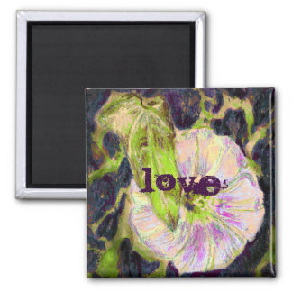 Wild Morning Glory by Alexandra Cook Square Magnet