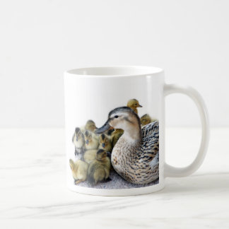 Wild Mother Duck and Ducklings Coffee Mug