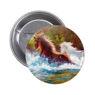 Wild Mustang Splash 6 Cm Round Badge