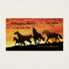 Wild Mustangs Sunset Business Card