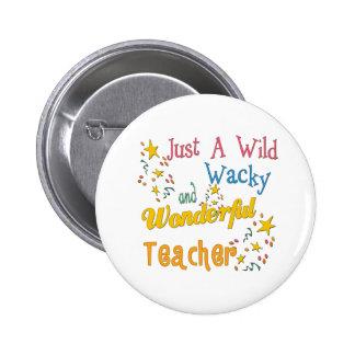 Wild N Wacky Teacher 6 Cm Round Badge