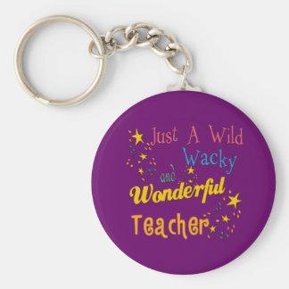 Wild N Wacky Teacher Basic Round Button Key Ring