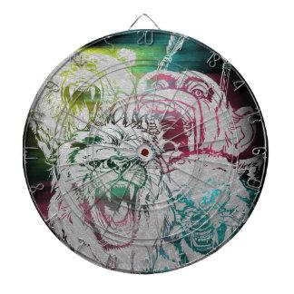 Wild Nature Animals Lion Monkey Wolf Dartboard
