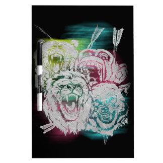 Wild Nature Animals Lion Monkey Wolf Dry Erase Board