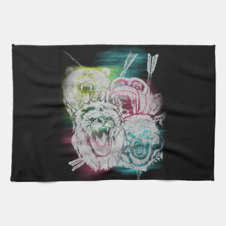 Wild Nature Animals Lion Monkey Wolf Tea Towel
