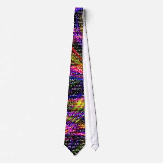 Wild Neon Best Dad Neck Tie