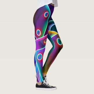 Wild Neon Dice Print Leggins Leggings