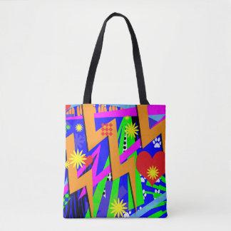Wild Neon Memories Tote Bag