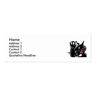Wild Ninja Cat Double-Sided Mini Business Cards (Pack Of 20)
