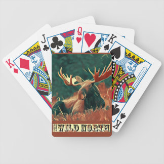 Wild North Moose Bicycle Playing Cards