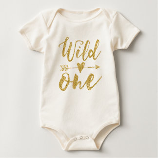 Wild One | 1st Birthday Golden Baby Bodysuit