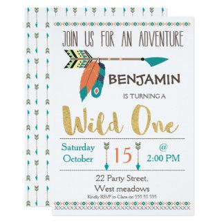 Wild One Arrow 1st Birthday Invitation For Boy
