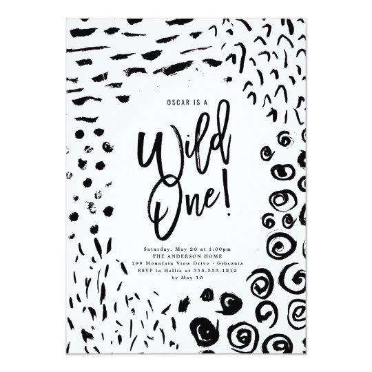 Wild One First Birthday Animal Print Invite