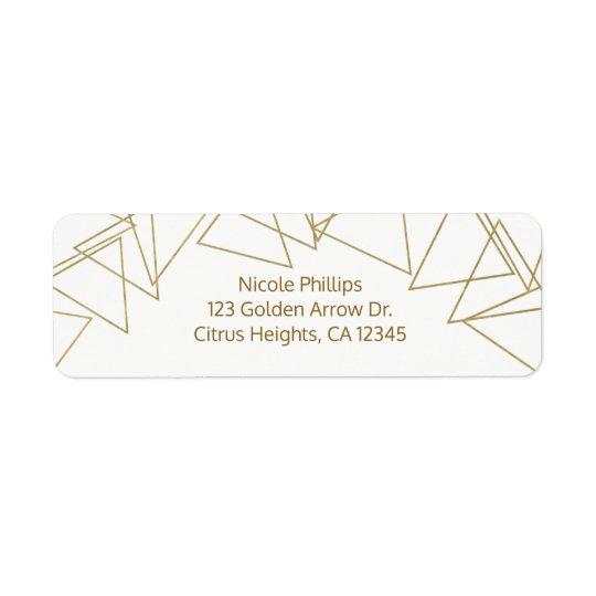 Wild One Gold Geometric Triangles Modern Glamour