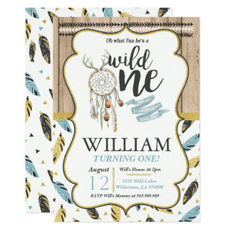 Wild One Invitation Boy Wild One Birthday Party