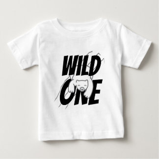 Wild One Polar Bear First Birthday Baby T-Shirt