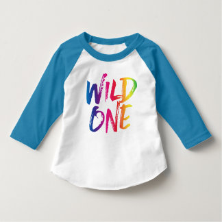 Wild One Rainbow Brushed Lettering T-Shirt
